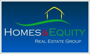 Homes & Equity Real Estate Group (logo in blue)
